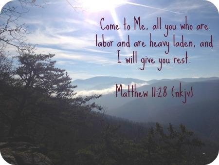 Come to Me, Choosing Stillness Verse