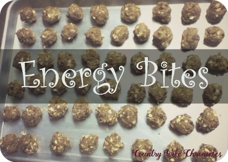 Homemade Energy Bites at Country Wife Chronicles