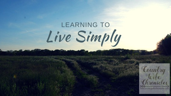 Learning to Live Simply at Country Wife Chronicles