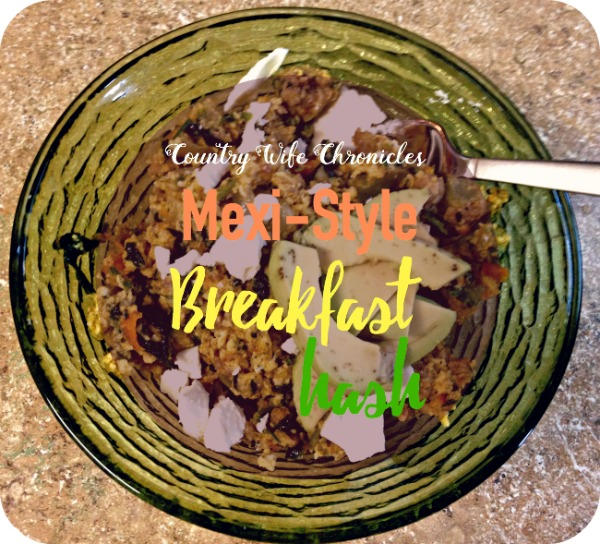 mexi style breakfast hash at Country Wife Chronicles