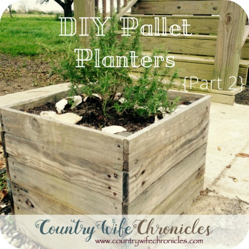 DIY Pallet Planters Feature Image
