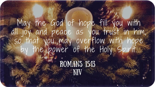 A Simple Christmas Give Hope Romans 15:13