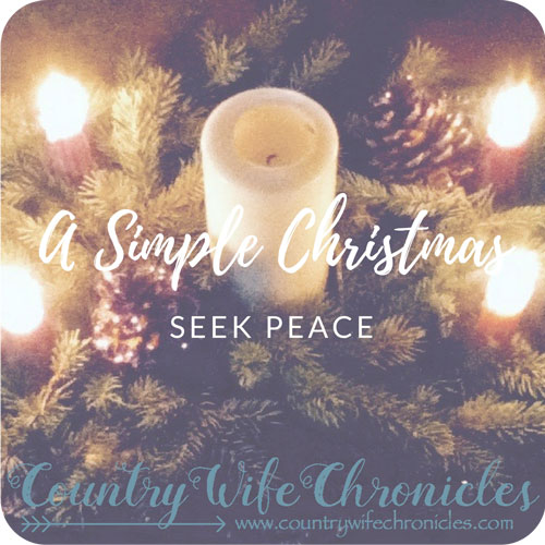 A Simple Christmas Seek Peace Feature Image