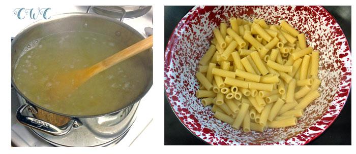 chicken rigatoni casserole pasta collage