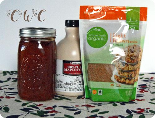 Honey, Maple Syrup, & Organic Brown Sugar
