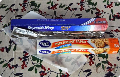 Parchment Paper + Aluminum Foil