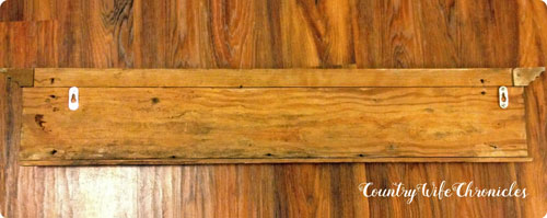 DIY coat rack backside