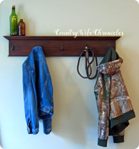 DIY coat rack finished