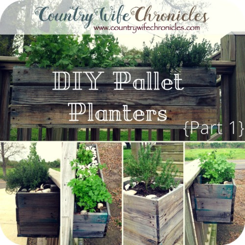 DIY Pallet Planters Part 1 Feature Image