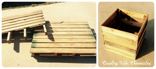 DIY Pallet Planter Box Before and After