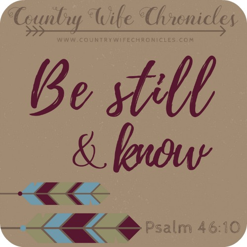 Be Still & Know Graphic