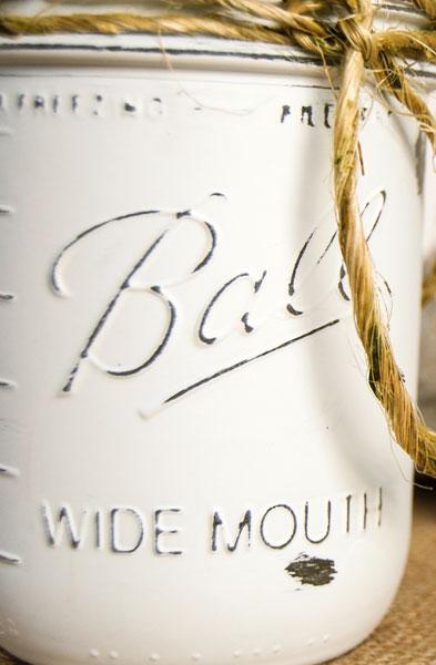 close up of Mason jar