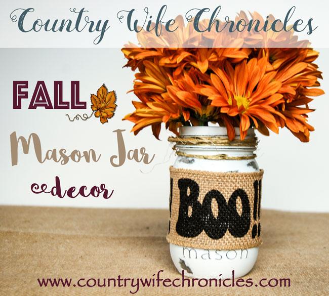 Fall Mason Jar Decor Feature Image