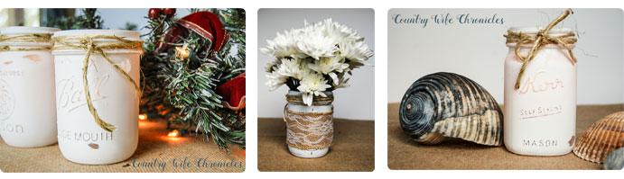 Mason Jar Decor Seasons Collage