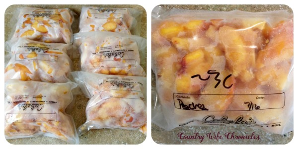 Frozen Peach Slices in Bags