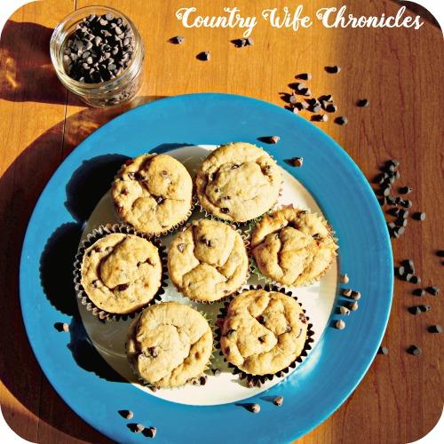 Gluten-Free Banana Muffins on Plate