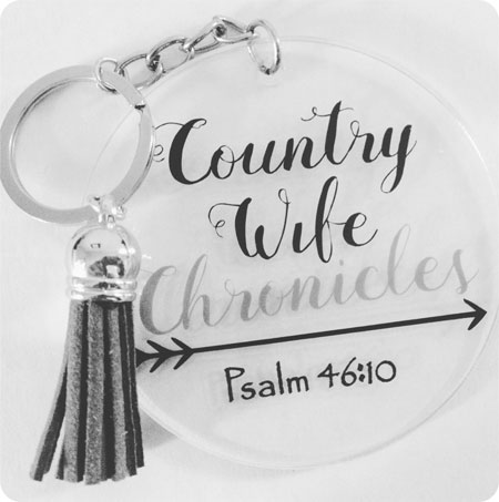 Country Wife Chronicles Keychain