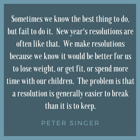 Peter Singer Quote for New Years Resolution Post