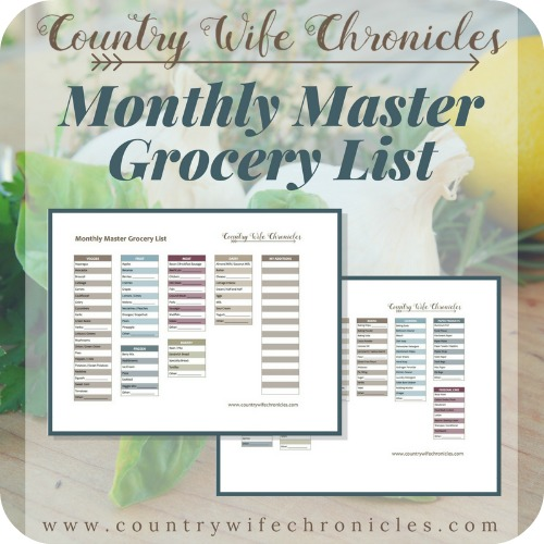 Monthly Master Grocery List Download Graphic