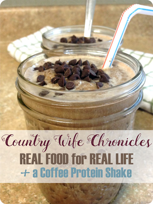 Real Food for Real Life + a Coffee Protein Shake Feature Image