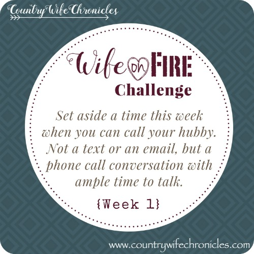 Wife on Fire Challenge Action Week 1