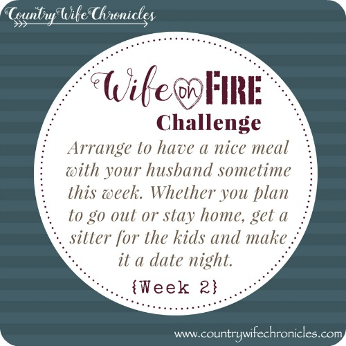 Wife on Fire Challenge Action Week 2