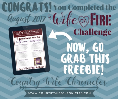 Wife on Fire Challenge Completion Freebie Graphic
