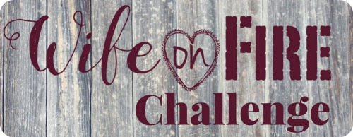 Wife on Fire Challenge Logo on Barnwood
