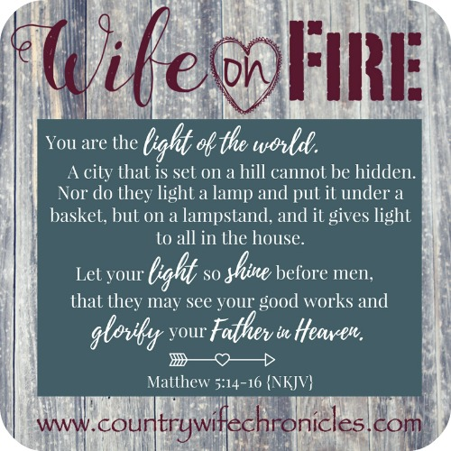 Wife on Fire Challenge Matthew 5:14-16